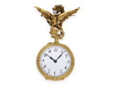 Pocket watch/ pendant watch: extremely rare early Le Coultre Art Nouveau watch with dragon brooch,