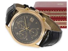 "Wristwatch: rare pink gold automatic chronograph by Girard Perregaux, ""Olimpico"" Ref. 4900, from the"