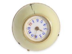 """Pendant watch/ form watch: rarity, ball watch """"Boule de Geneve"""" with extremely rare gold and ivory"""