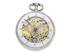 Pocket watch: large skeletonized pocket watch repeater, No.9779, probably Switzerland ca. 1820Ca.