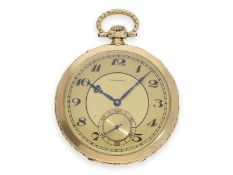 Pocket watch: extremely elegant and very fine Art Deco dress watch in the very rare chronometer