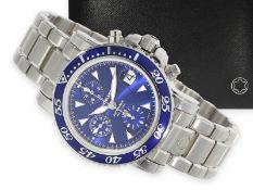 """Wristwatch: unworn luxury diver's chronograph, Montblanc """"Sport Automatic"""" Ref. M29300, rare dark"""