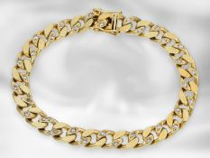 Armband: massives und schweres Diamant-Panzerarmband