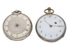 Taschenuhr: 2 interessante Spindeluhren, dabei ein Repetierer, Frankreich um 1800