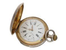 Taschenuhr: interessante und hochwertige Silbersavonnette mit Repetition, Le Coultre für den