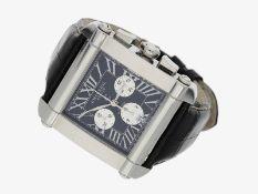 Armbanduhr: moderner, übergroßer Chronograph von Charriol, Ref. CCHCXXL, ungetragen mit