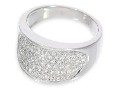 Ring: moderner attraktiver Pavéring mit Brillanten, ca. 1ct, 14K Gold