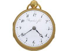 Taschenuhr: hochfeine französische Clockwatch mit Stunden-Repetition und Halbstunden-Selbstschlag,