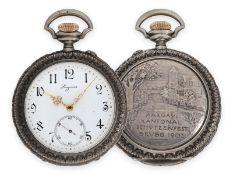 Taschenuhr: sehr seltene Longines Schützenuhr, Aargau Kantonal Brugg 1902