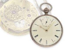 Taschenuhr: seltene englische Spindeluhr mit Sekunde, sehr feine Qualität, Charles Smith London
