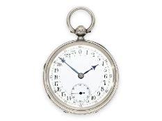 Taschenuhr: Rarität, schottische Taschenuhr mit 24-Stunden-Zifferblatt, Hallmarks 1885, signiert