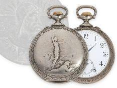 Taschenuhr: seltene Longines Schützenuhr Tir Cantonal Bernois St. Imier 1900 mit originaler