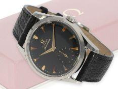 Armbanduhr: äußerst attraktive, große Omega Seamaster mit schwarzem Zifferblatt, Referenz 2937-1,