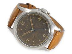 """Armbanduhr: sehr seltene oversize Eterna mit Zentralsekunde und """"Tropical Dial"""", 40er-Jahre"""