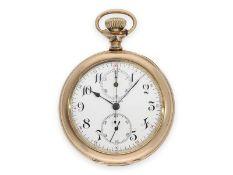 Taschenuhr: interessanter und seltener Jugendstil-Chronograph von 1907, Longines Kaliber 19.73,