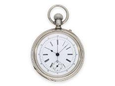 Taschenuhr: äußerst seltener, ganz früher Longines Chronograph Kaliber 20H, der 1. Longines