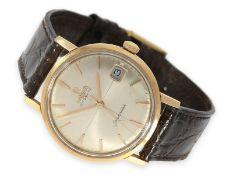 Armbanduhr: vintage Omega Seamaster mit Sektor-Zifferblatt, 18K Roségold, 50er-Jahre