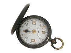 Kompass: Rarität, militärischer Taschenkompass von Longines aus dem Ersten Weltkrieg