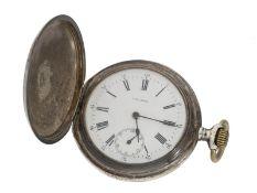 Taschenuhr: seltene Longines Jugendstil Savonnette, geliefert nach Südamerika 1906