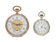 Taschenuhr: Konvolut von 2 Taschenuhren, um 1900