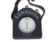 Taschenuhr/Beobachtungsuhr: äußerst rare Longines 1/10 Sekunden-Stoppuhr/Beobachtungsuhr mit