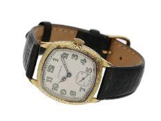 Armbanduhr: außergewöhnliche und attraktive, sehr frühe Longines Herrenuhr aus der Zeit des Art déco