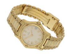 Armbanduhr: äußerst luxuriöse, sportliche Damenuhr, Ebel 1911 Ref. 888901, 18K Vollgold