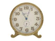 Taschenuhr: vintage 8-Tage-Schreibtischuhr, sog. Desk-Clock, Longines ca.1930