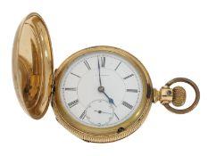 Taschenuhr: frühe Longines Savonnette mit dem sehr seltenen Kaliber 21S, ca.1884, gefertigt für C.C.