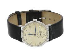 Armbanduhr: frühe Longines Herrenuhr in Stahl, vermutlich von 1936