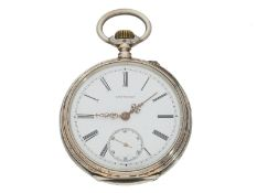 Taschenuhr: silberne Herrenuhr von Longines, ca. 1885