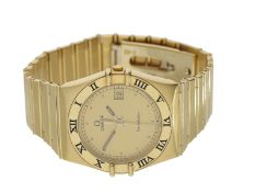 Armbanduhr: hochwertige Herren-Armbanduhr, Omega Constellation, 18K Gold