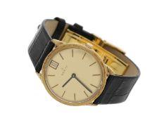 Armbanduhr: elegante Zenith Herrenuhr in 18K Gold, ca.1970