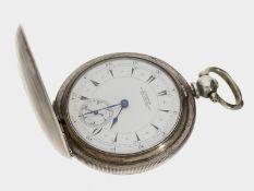 Taschenuhr: Longines Silbersavonnette, gefertigt für den osmanischen Markt, geliefert 1907