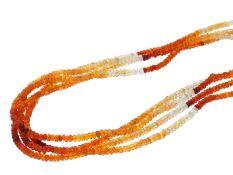 Kette/Collier: dekorative mehrreihige Opal-Farbsteinkette