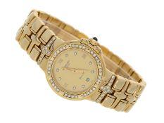 """Armbanduhr: äußerst luxuriöse Damenuhr, Raymond Weil """"Parsifal"""", in 18K Gold mit Brillanten"""