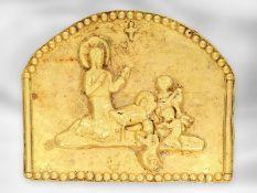 Relief: frühes antikes Goldrelief, Darstellung der Geburt Christi, vermutlich ca.2000 Jahre alt Ca.