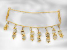 Collier: vermutlich ein antikes Colliermittelteil, 18K Gold, Afghanistan, vermutlich ca.2500 Jahre