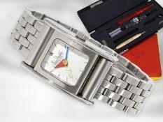 Armbanduhr: limitierte, automatische vintage Designer-Uhr in komplett originalem Zustand mit