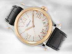 """Armbanduhr: luxuriöse moderne Chopard """"Happy Sport"""" aus der Reihe Happy Diamonds, 18K Rotgold/"""