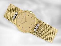 "Armbanduhr: hochwertige, goldene vintage Armbanduhr der Marke ""Girard-Perregaux"", 18K Gold Ca. 18,"