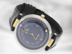 """Armbanduhr: ausgefallene und seltene Herren-Designeruhr, Bunz """"Moontime"""" Ref.27014332, Stahl/Gold"""