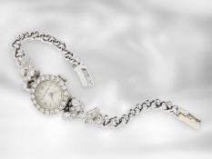 Armbanduhr: dekorative, ausgefallene und hochwertig gearbeitete vintage Damenuhr mit reichem