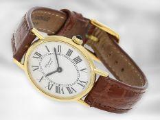 Armbanduhr: goldene Damenuhr von Chopard, Ref. 5095 Ca. 22 × 26mm, 18K Gold, Handaufzug, weißes