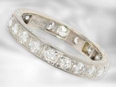 Ring: sehr schöner und hochwertiger vintage Memoirering, ca.1,5ct feine Brillanten Ca. Ø18,5mm,