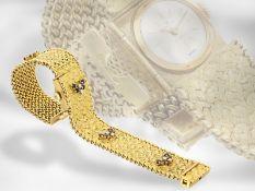 Armbanduhr: ausgefallene und sehr hochwertig gearbeitete vintage Cocktailuhr von Bucherer, ca.1960