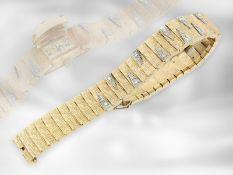 Armbanduhr: sehr schöne vintage Damenschmuckuhr mit Diamantbesatz, mit verdecktem Gehäuse auch als