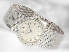Armbanduhr: sehr schöne vintage Damenarmbanduhr der Marke Vacheron & Constantin mit Brillantbesatz,