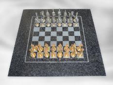 Schachspiel: einzigartige Luxusausführung eines Schachspieles mit außergewöhnlich detaillierten,