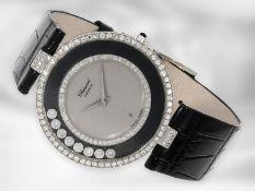"""Armbanduhr: luxuriöse, große Damenuhr Chopard Happy Diamonds """"Big size"""", in 18K Weißgold, Ref."""
